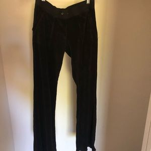 Juicy Couture Velour Track Pants-black, XS